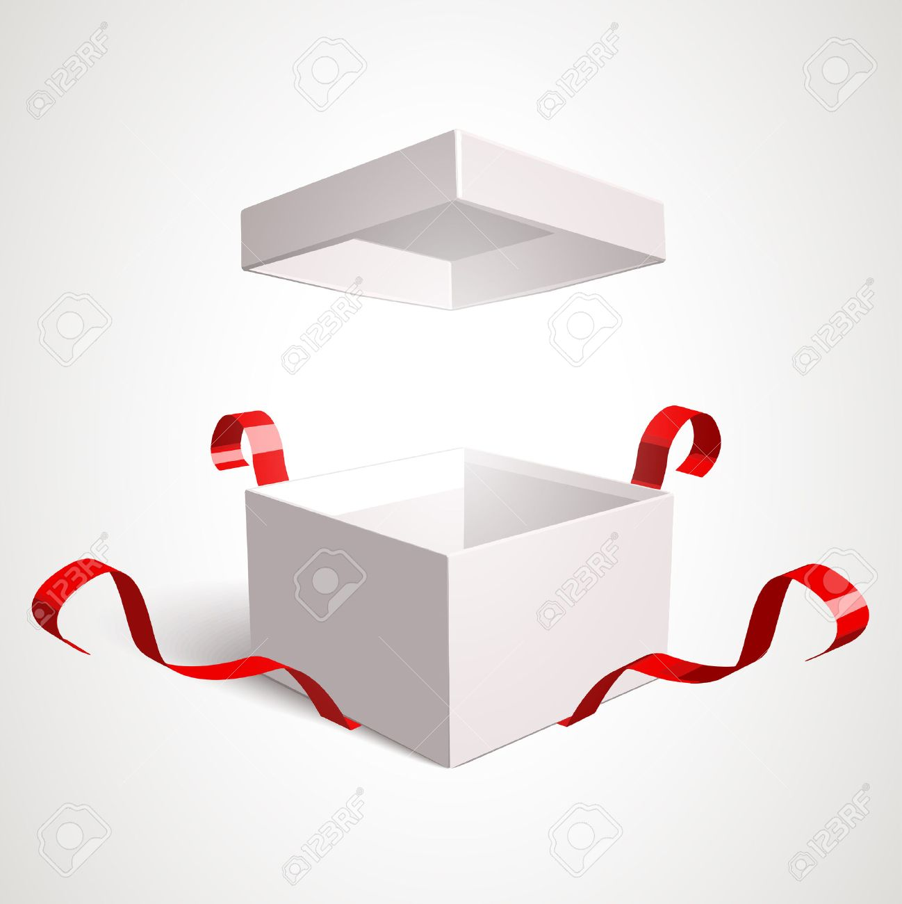 Open gift box vector design template. Elements are separately editable in vector file. - 47588656