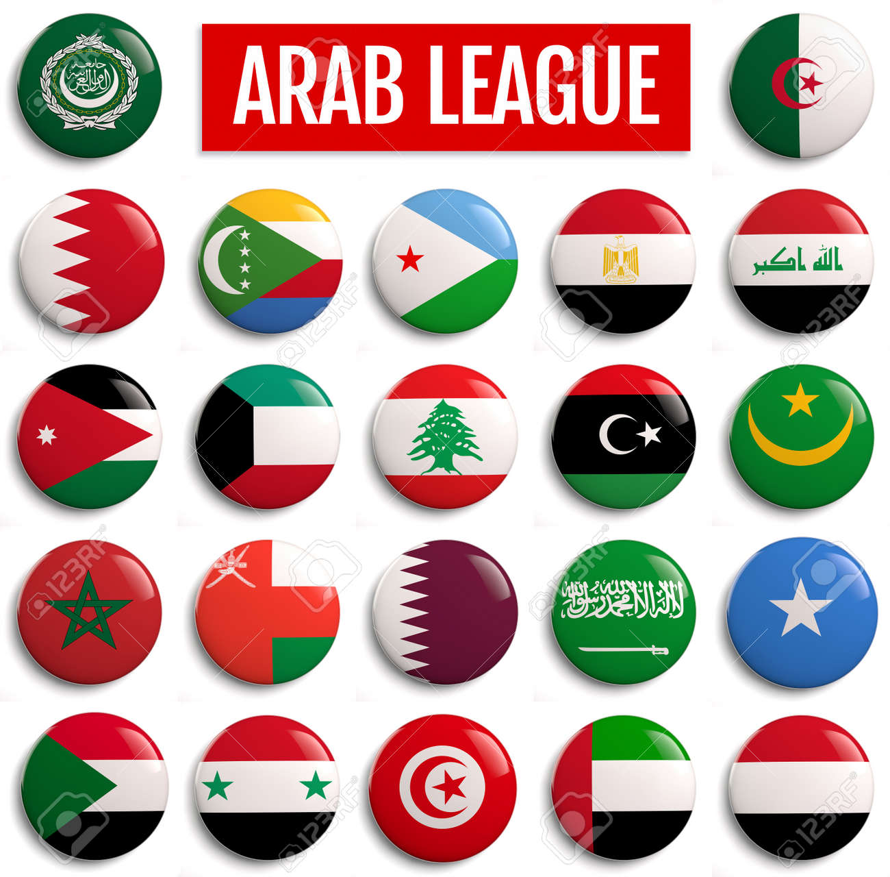 Picture of: Arab League Member States Flags 3d Illustration Stock Photo Picture And Royalty Free Image Image 127605942