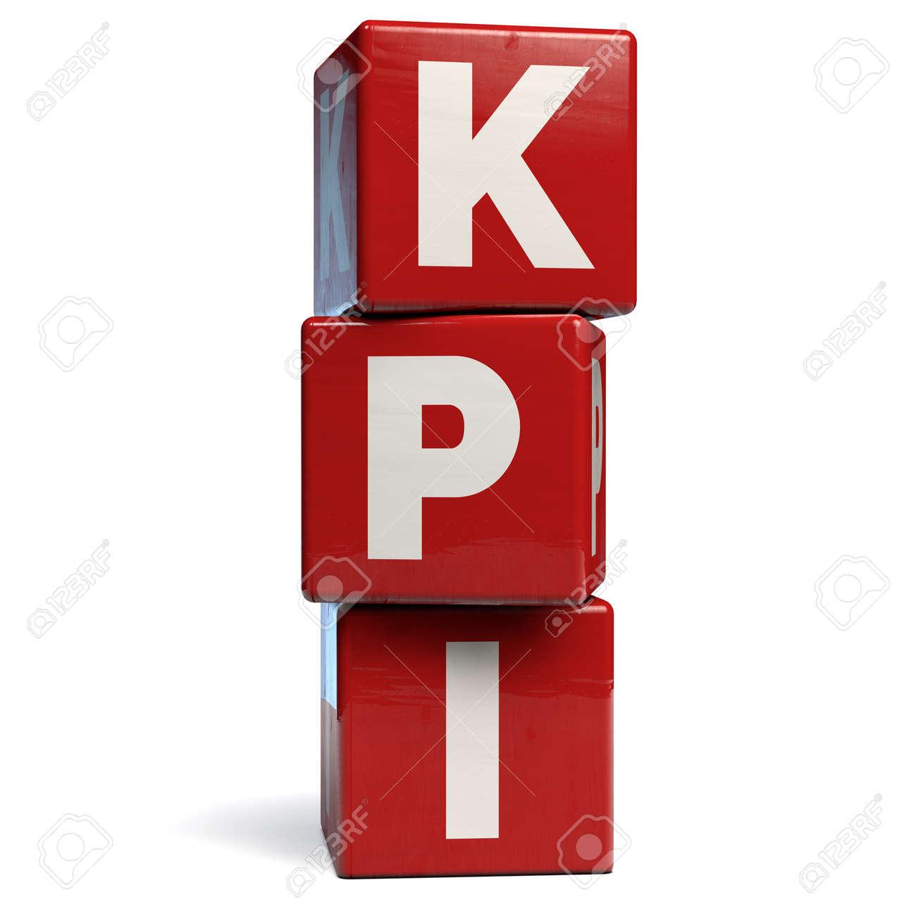 KPI Key Performance Indicators Business Acronym. 3D Illustration. - 141328977