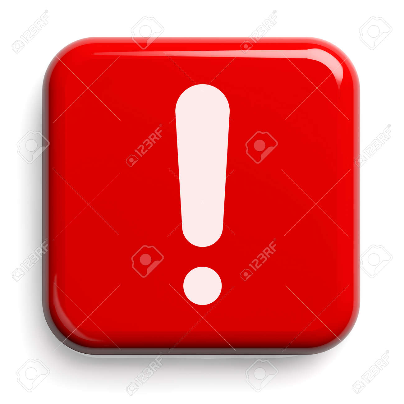 Red Alarm Button Isolated on White. Clipping path included. 3D illustration. - 147353765