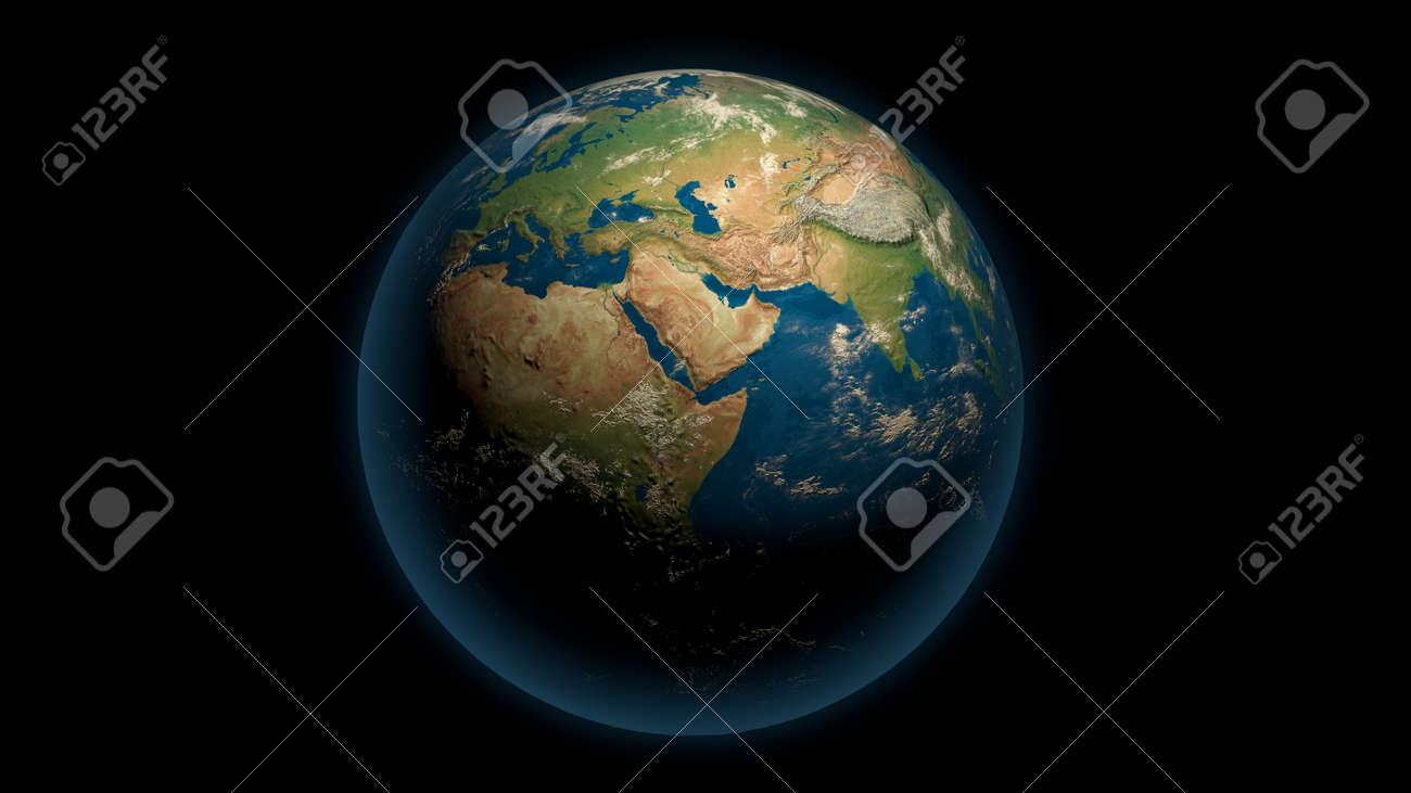Global earth on the black - 148954343