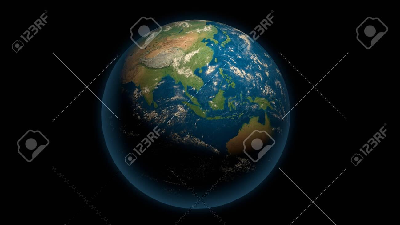 Global earth on the black - 148954346