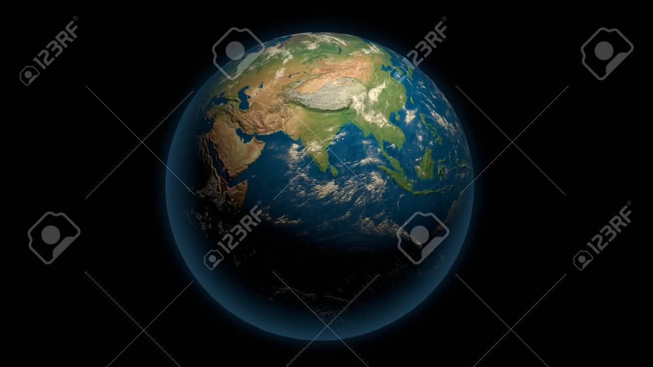 Global earth on the black - 148954351