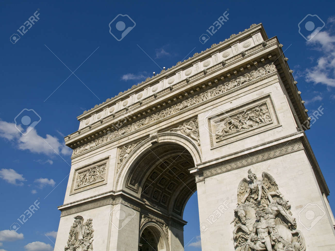 High angle view of one of the most popular monuments of France Stock Photo - 4190887