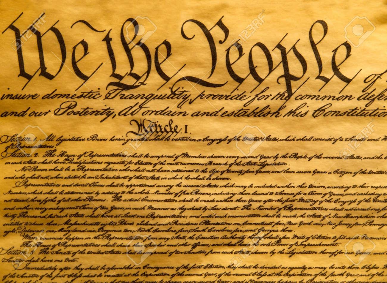 アメリカ合衆国憲法羊皮紙 の写真素材・画像素材 Image 9468683.
