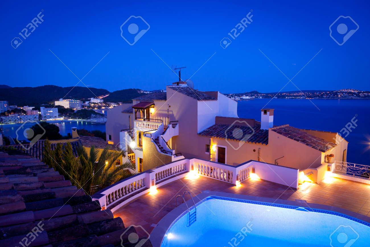Night in Paguera Village, Mallorca, Spain Stock Photo - 20289270