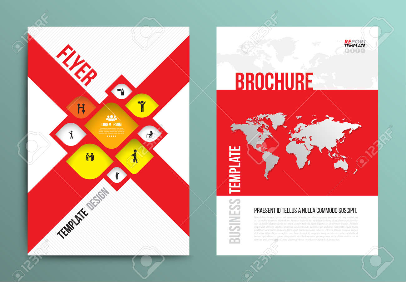 Vector brochure flyer design layout template in a4 size with vector vector brochure flyer design layout template in a4 size with world map and business man icons gumiabroncs Images