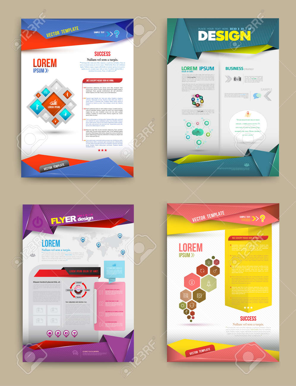 Set of Flyer, Brochure Design Templates. Abstract Modern Backgrounds. business concept. Vector illustration. - 37091361