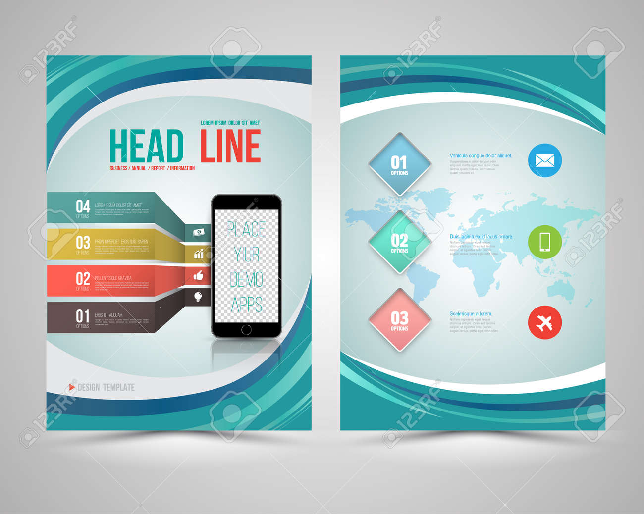 Trendy Graphic Design Layout With Smart Phone Concept Vector