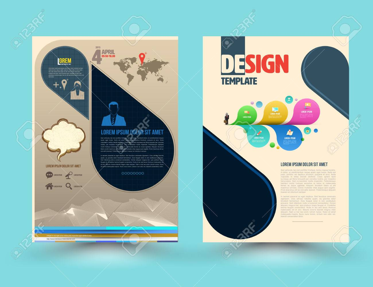 Brochure Template | Vector Brochure Template Design Business Graphics Brochures