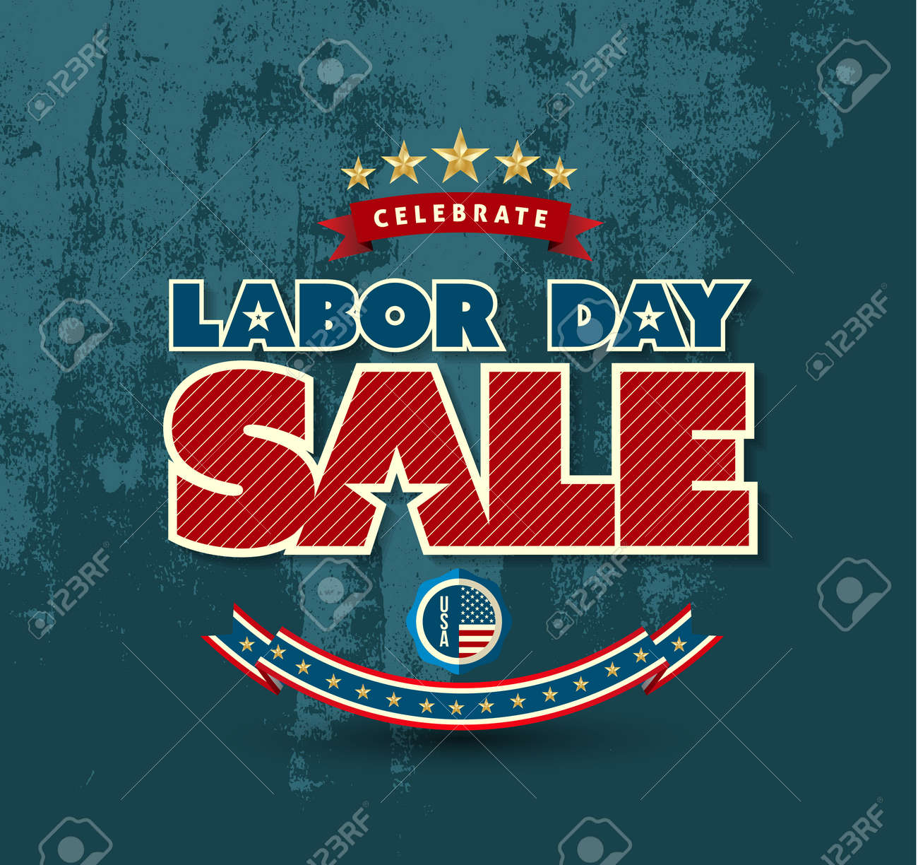Labor day sale poster. Vector illustration. Can use for advertising and banner promotion. - 43923517