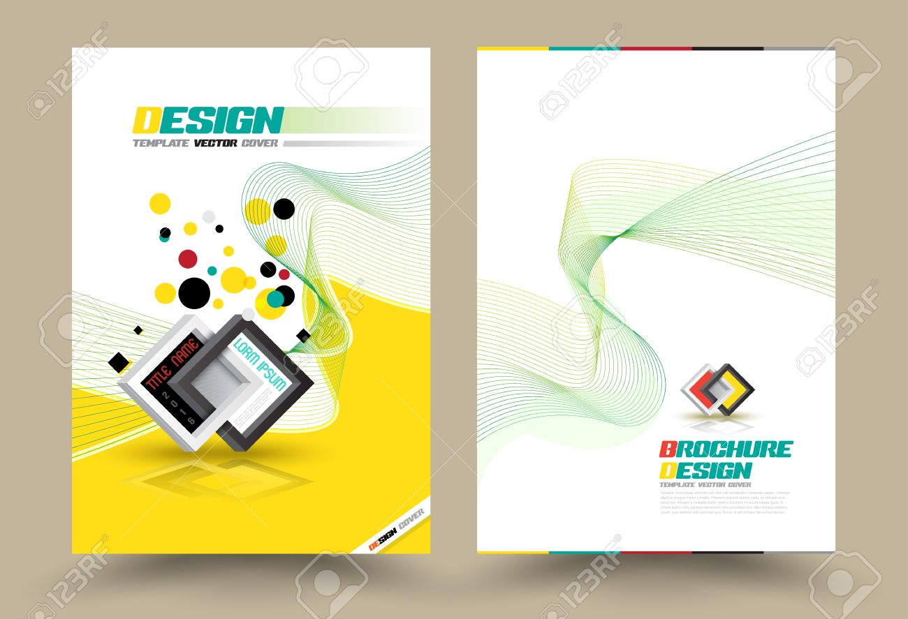 vector brochure flyer design layout template line style size