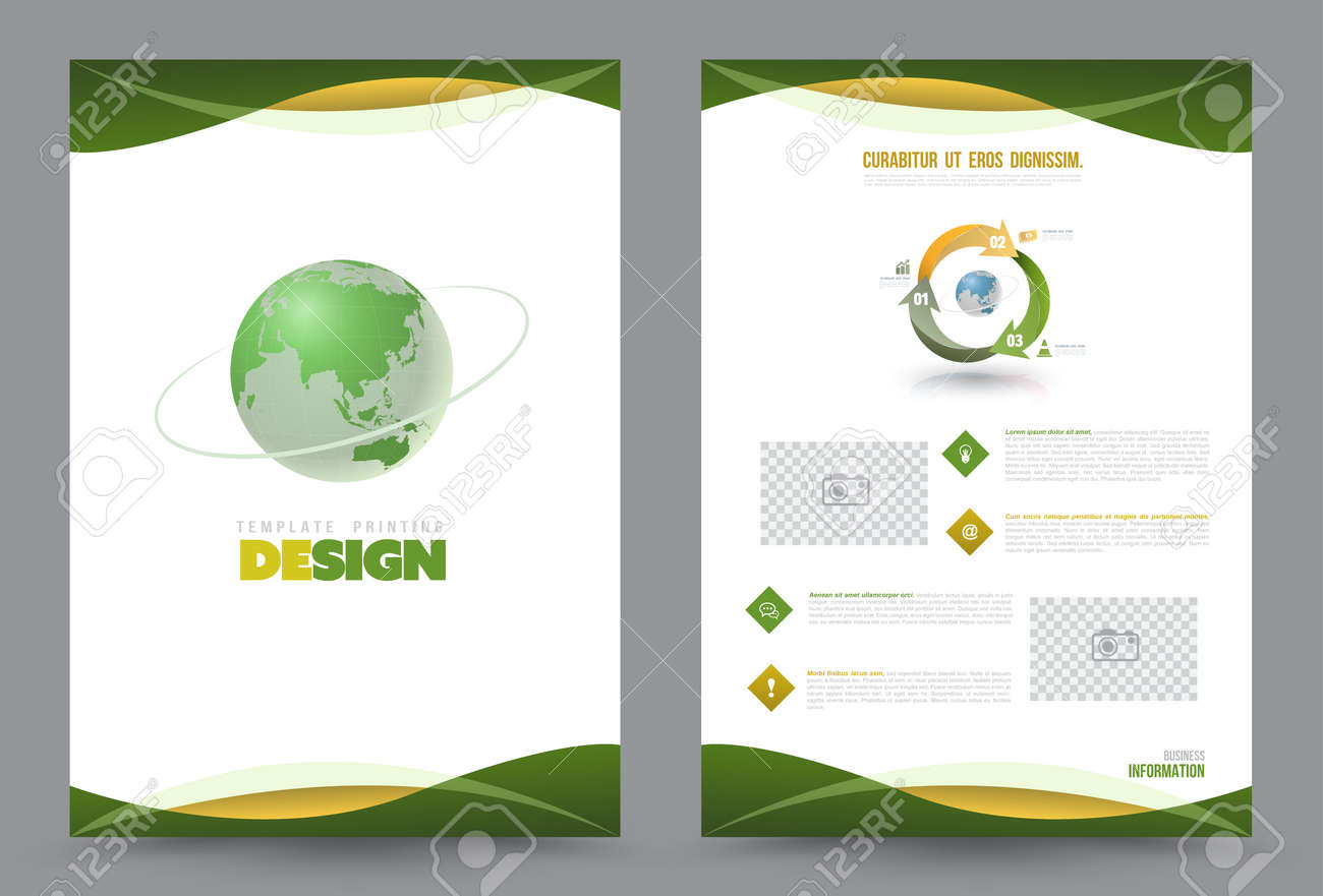 Cover annual report Leaflet Brochure Flyer template A4 size design, book cover layout design, Abstract presentation templates, Business report template. - 56632960