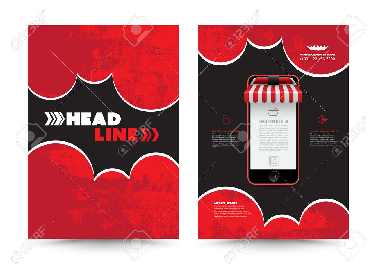 Cover Annual Report Leaflet Brochure Flyer Template A22 Size Design Within Mobile Book Report Template