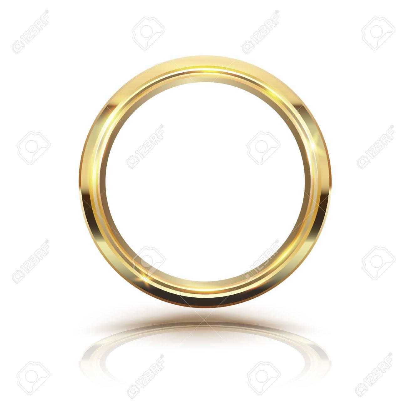 Gold circle isolate on white background. illustration. - 60634117