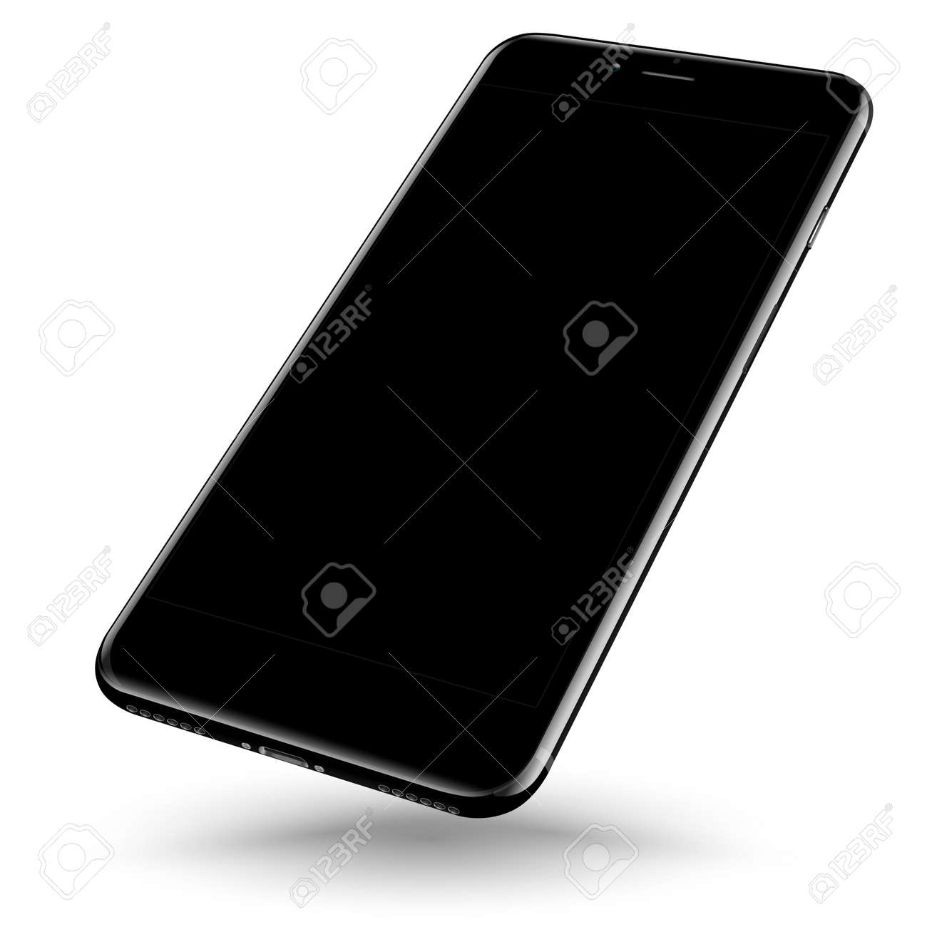 Perspective smartphone realistic mock-up. Vector illustration. - 63594510