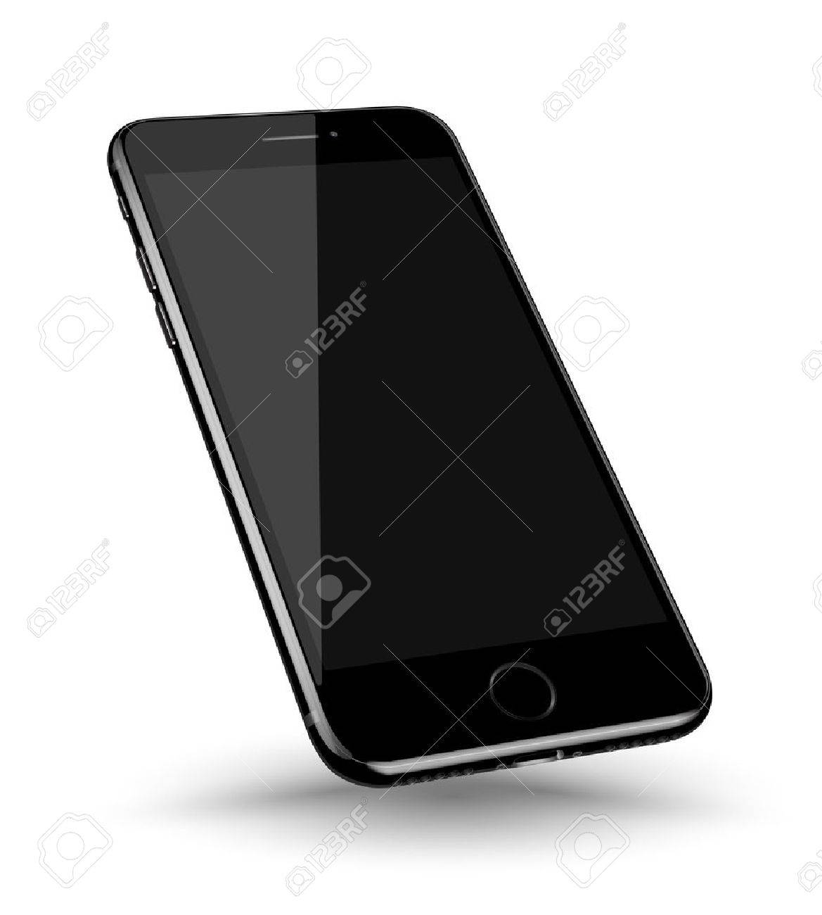 Perspective smartphone realistic mock-up. Vector illustration. - 63594544