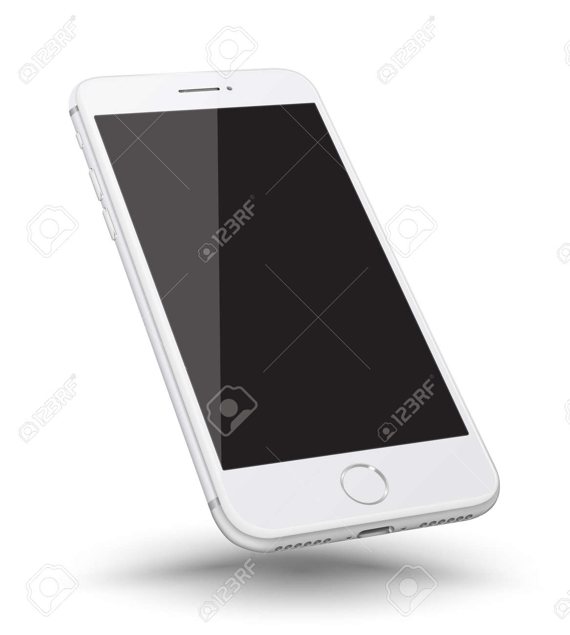 Perspective smartphone realistic mock-up. Vector illustration. - 63594547