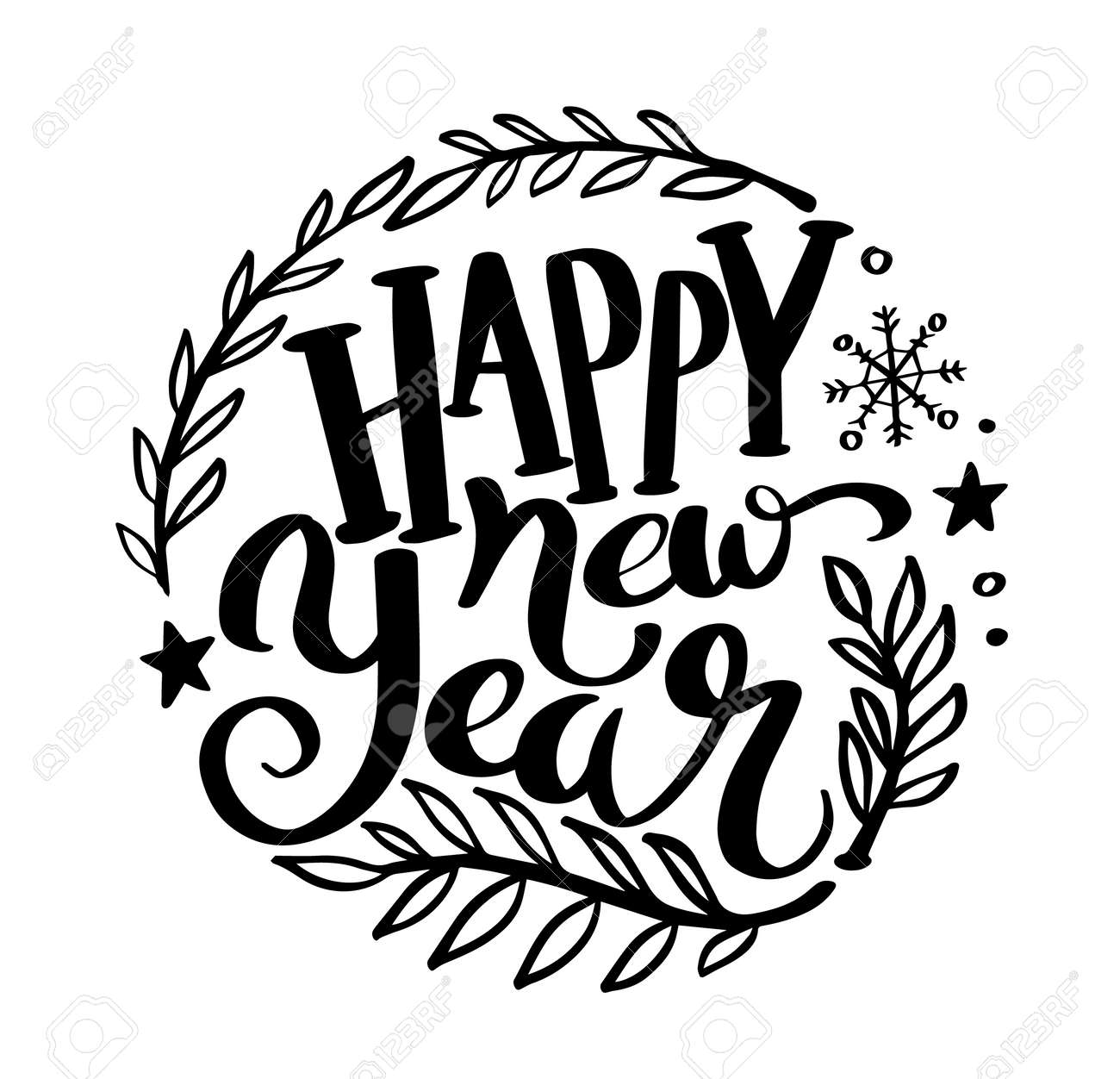Happy New Year Lettering 4