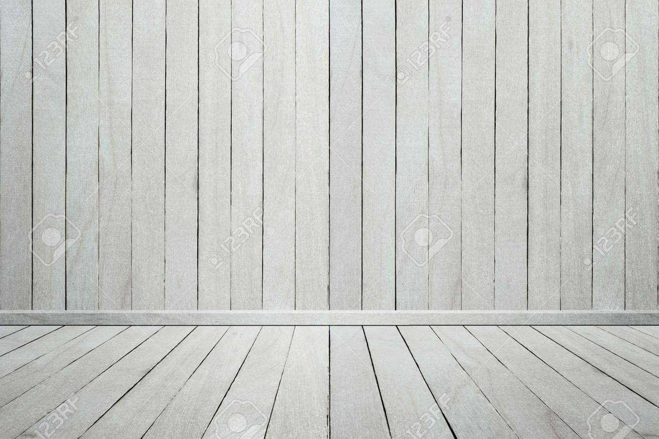 Leere Innen Holz Zimmer Weisse Holzwand Und Boden Zur Anzeige Des
