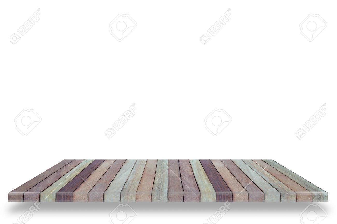 Plank Voor Aan De Muur.Lege Houten Tafel Of Plank Muur Gea Soleerd Op Een Witte Achtergrond