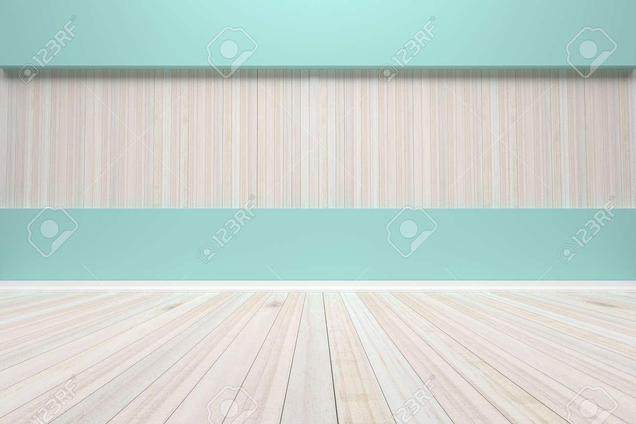 banque dimages vide salle pastel intrieur avec plancher en bois pour prsenter vos produits image de rendu 3d