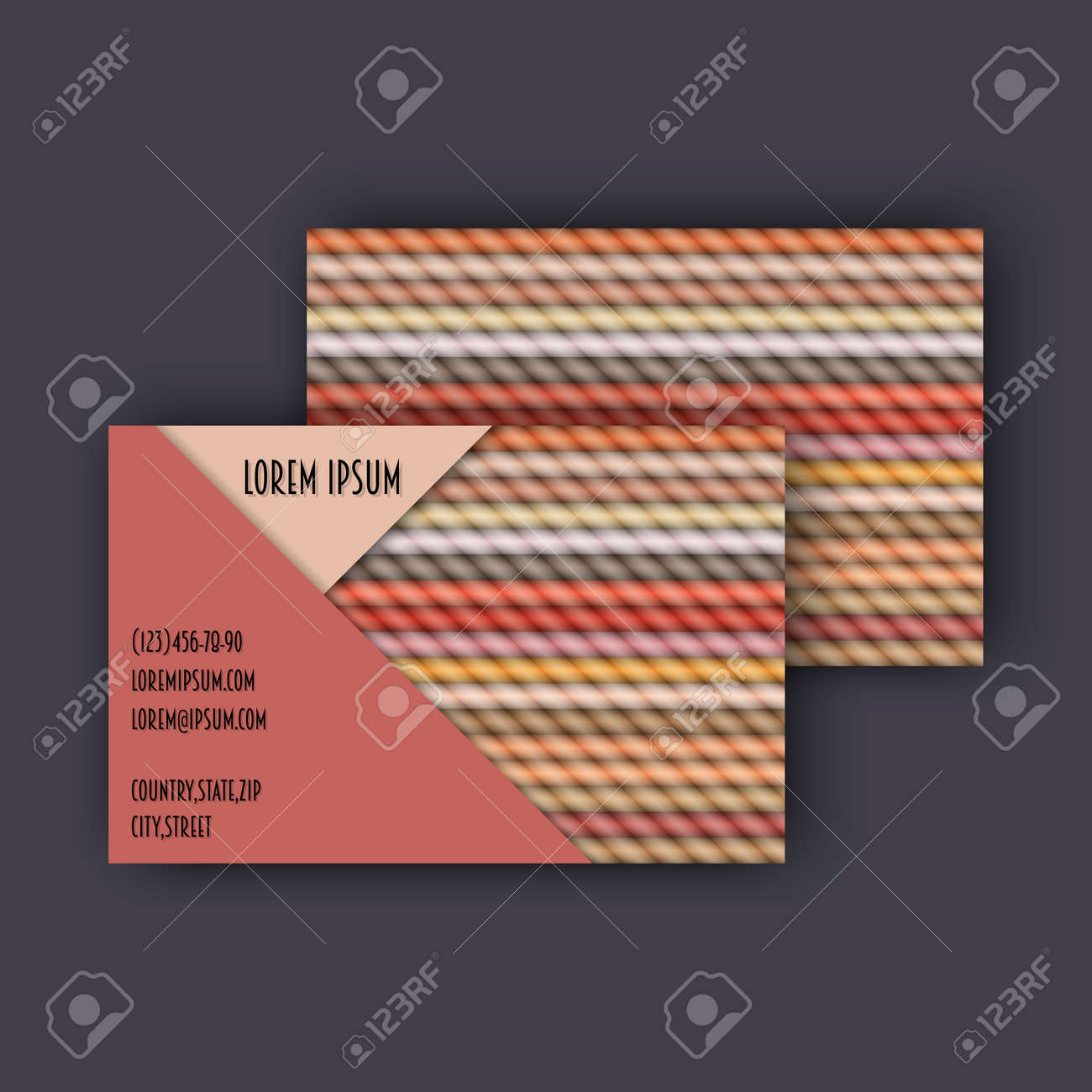 Business card template with 3d paper colorful lines background business card template with 3d paper colorful lines background stock vector 68031890 accmission Image collections