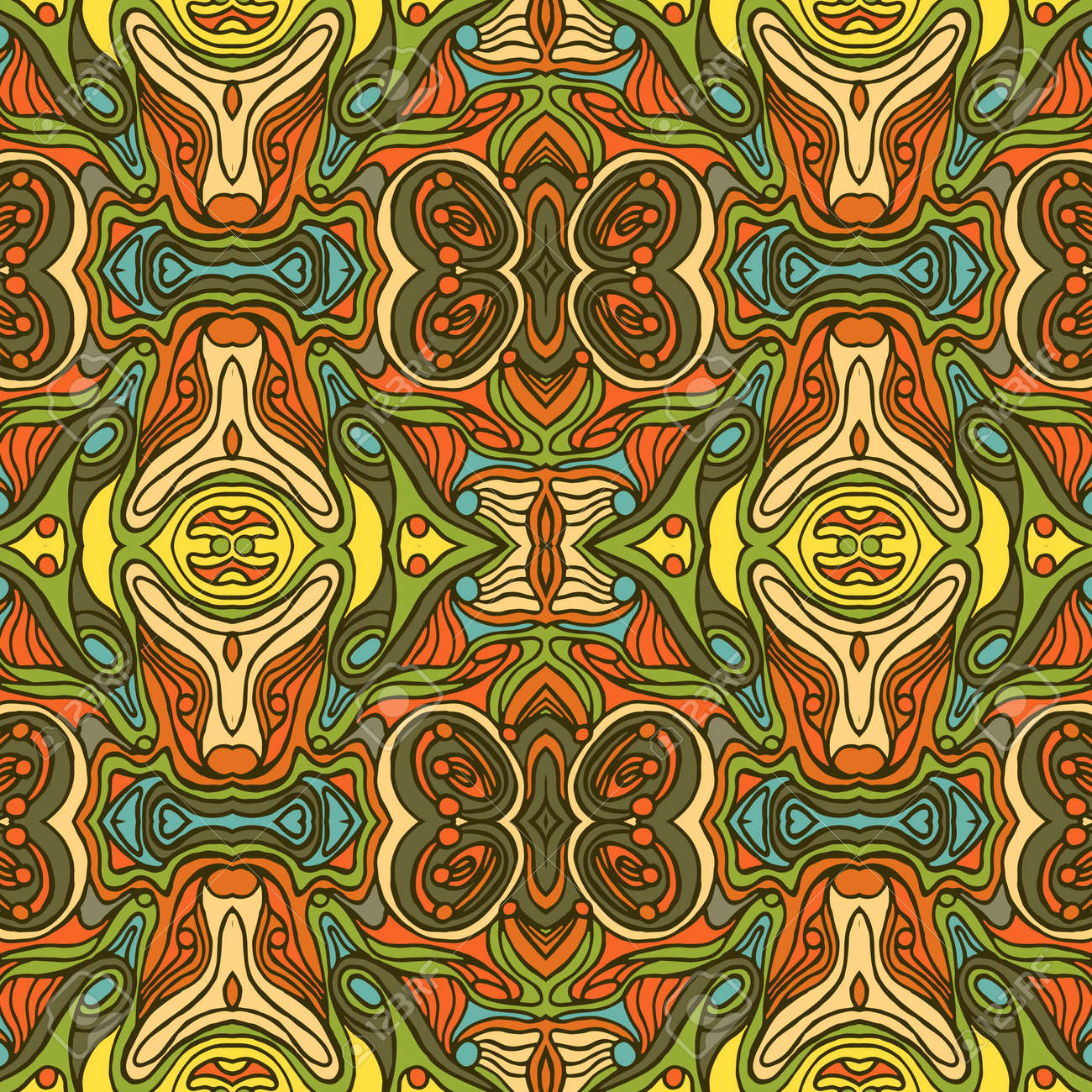Colorful Doodle Abstract Seamless Pattern. Can Be Used For Wallpaper ...