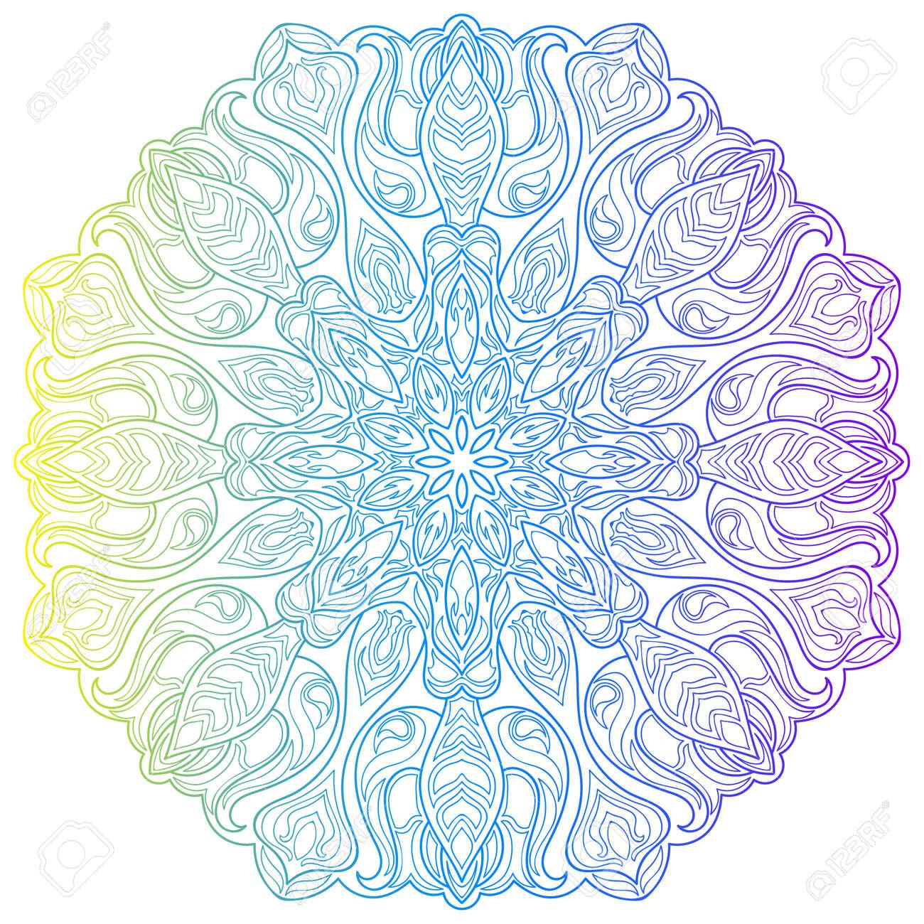 Ethnic Colorful Floral Mandala. Vintage Decorative Elements ...