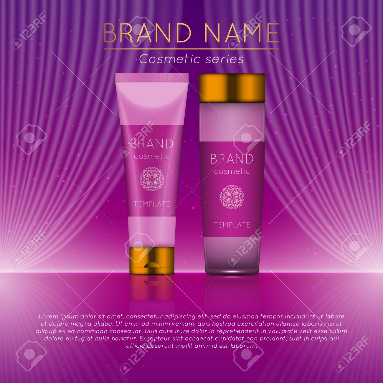 D Beauty Product Ad Template Design Royalty Free Cliparts Vectors - Product ad template