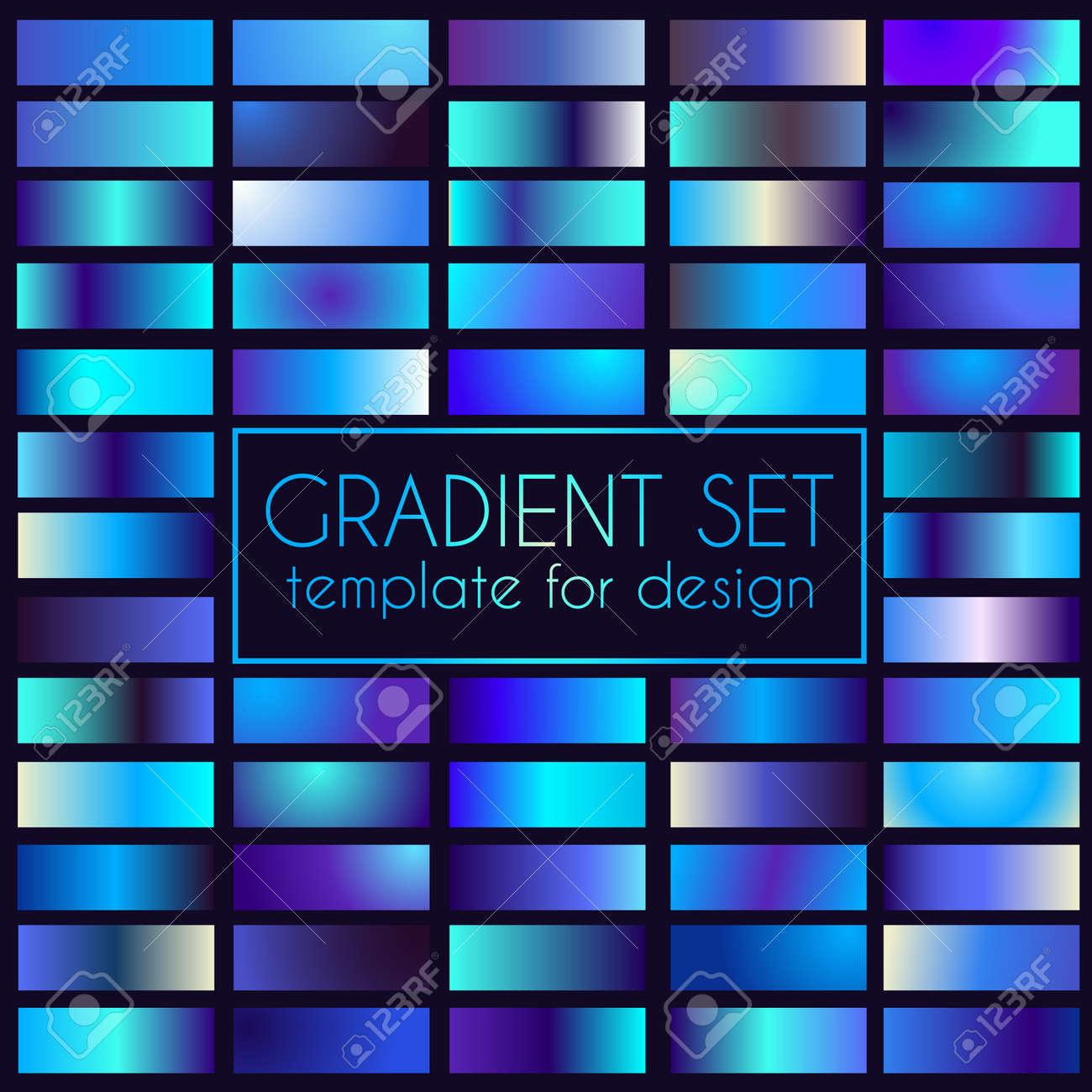 Multicolored bright gradient set. Template for design - 105101147