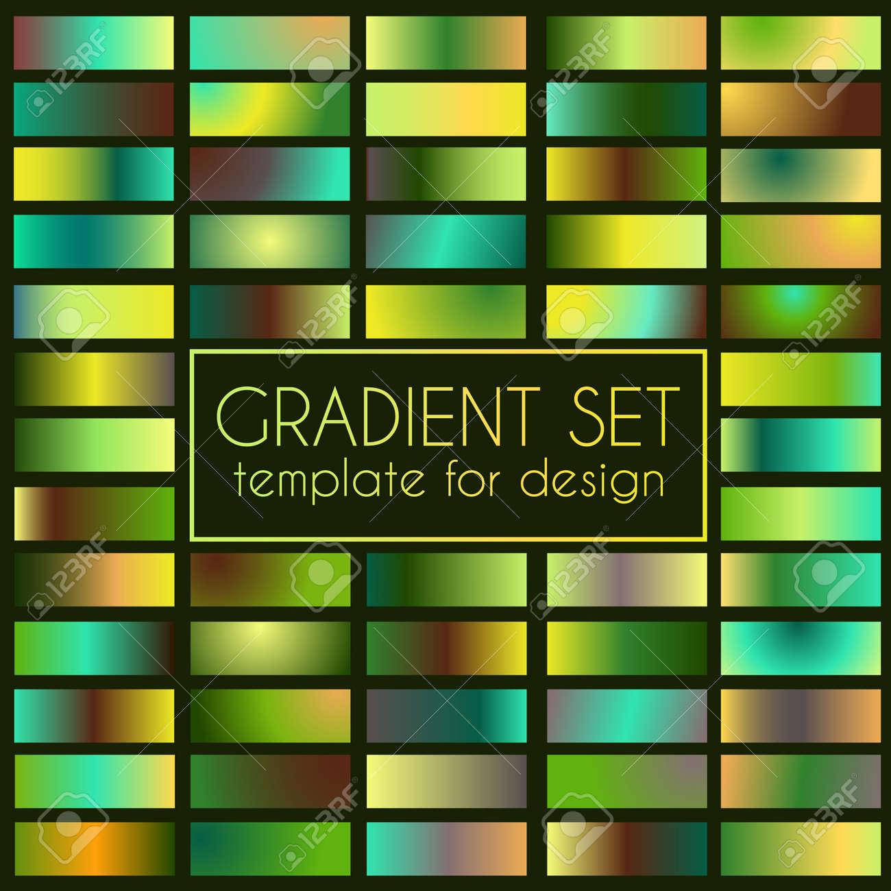 Multicolored bright gradient set. Template for design - 114806853