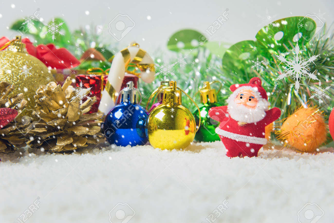 christmas decorations background there is space to write stock photo 69778197