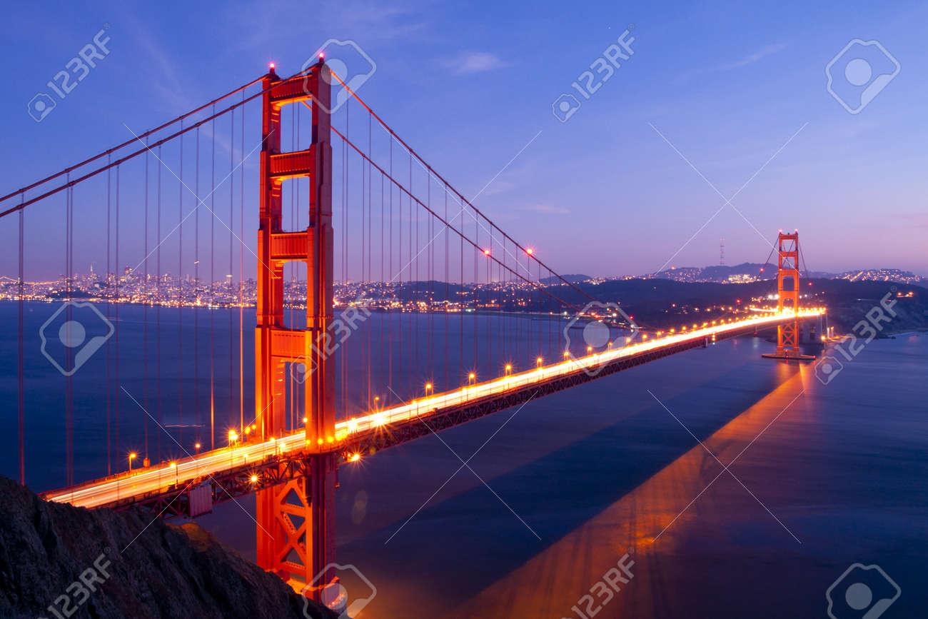 Golden Gate bridge at twilight. San Francisco, USA. Stock Photo - 11714732