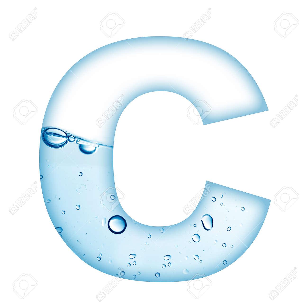 bubble letters  Alphabet  C In Colorful Bubble Letters