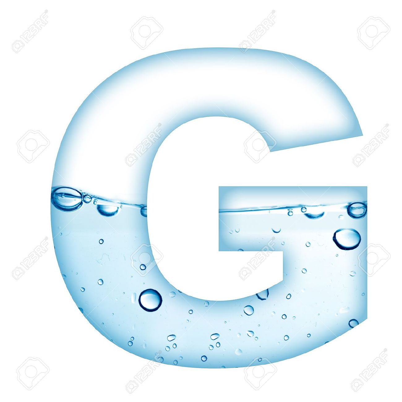Alphabet Letter Made From Water And Bubble G Stock Photo