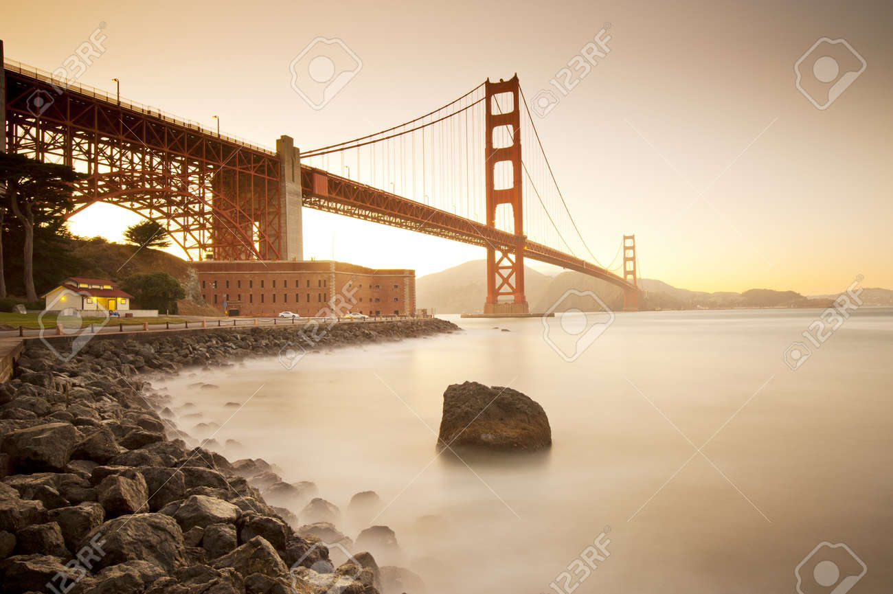 Golden Gate bridge long shutter speed long exposure Stock Photo - 13000907