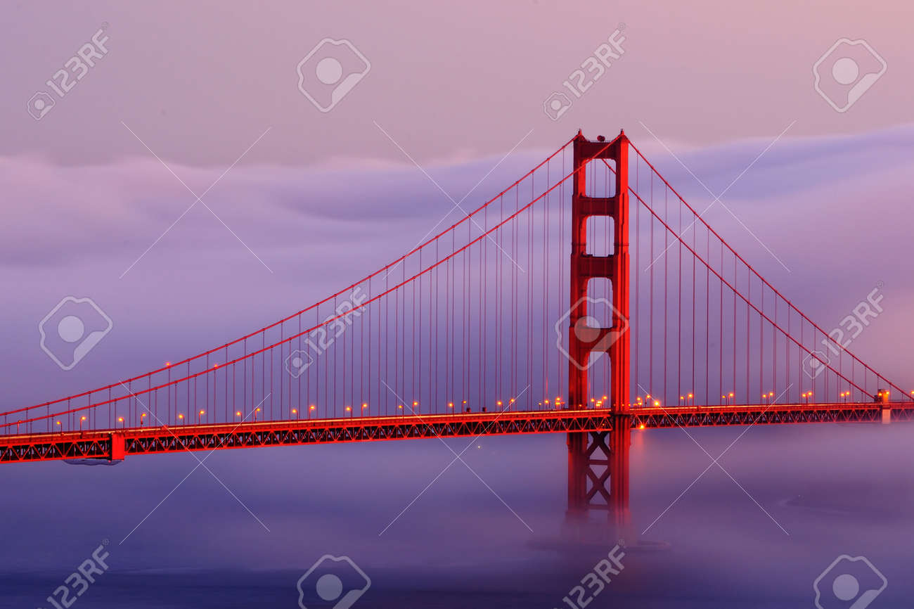 Golden Gate bridge with fog Stock Photo - 15241832