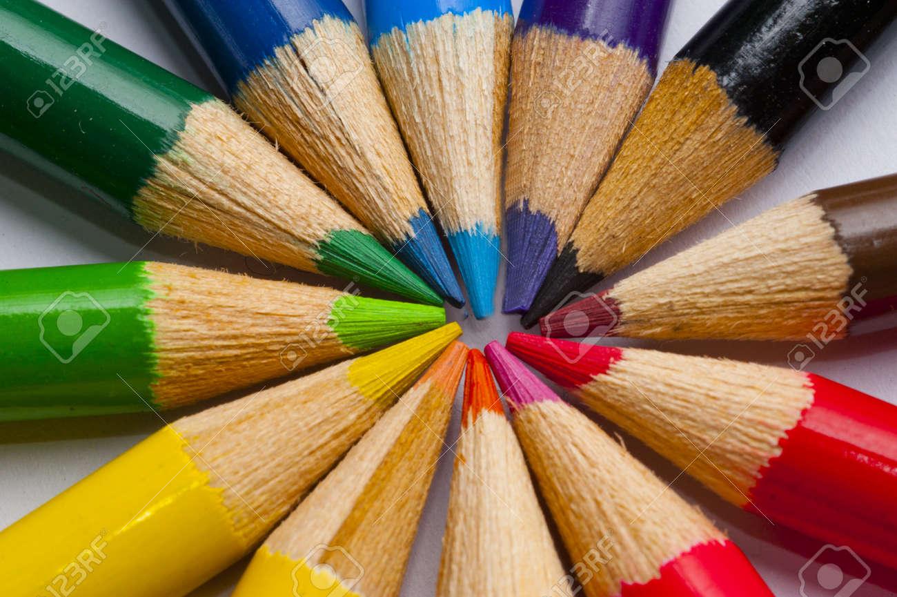 Coloring Pencil close up Stock Photo - 13546322