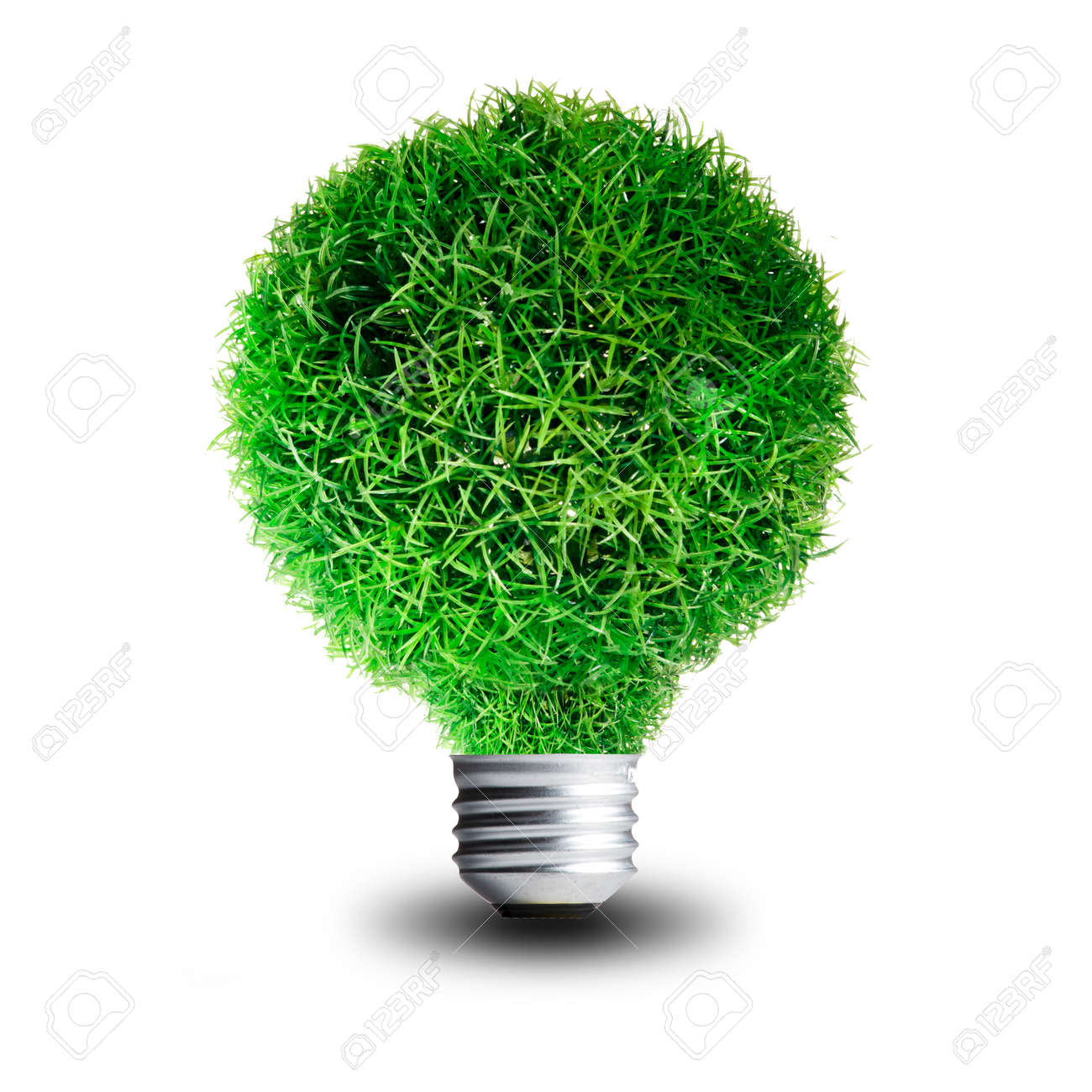 Elegant Green Grass Growing On Light Bulb Concept For Eco Friendly Stock Photo    13733027 Design Inspirations