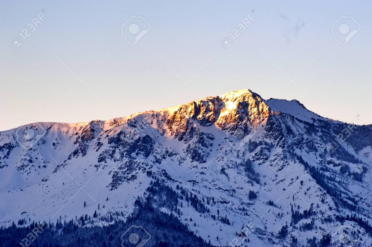 Snow on mountain at Lake Tahoe Stock Photo - 15939841