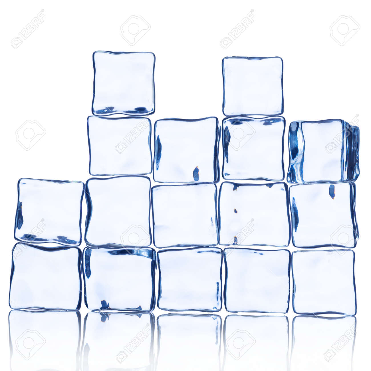 Wall Of Ice Cube On White Stock Photo Picture And Royalty Free