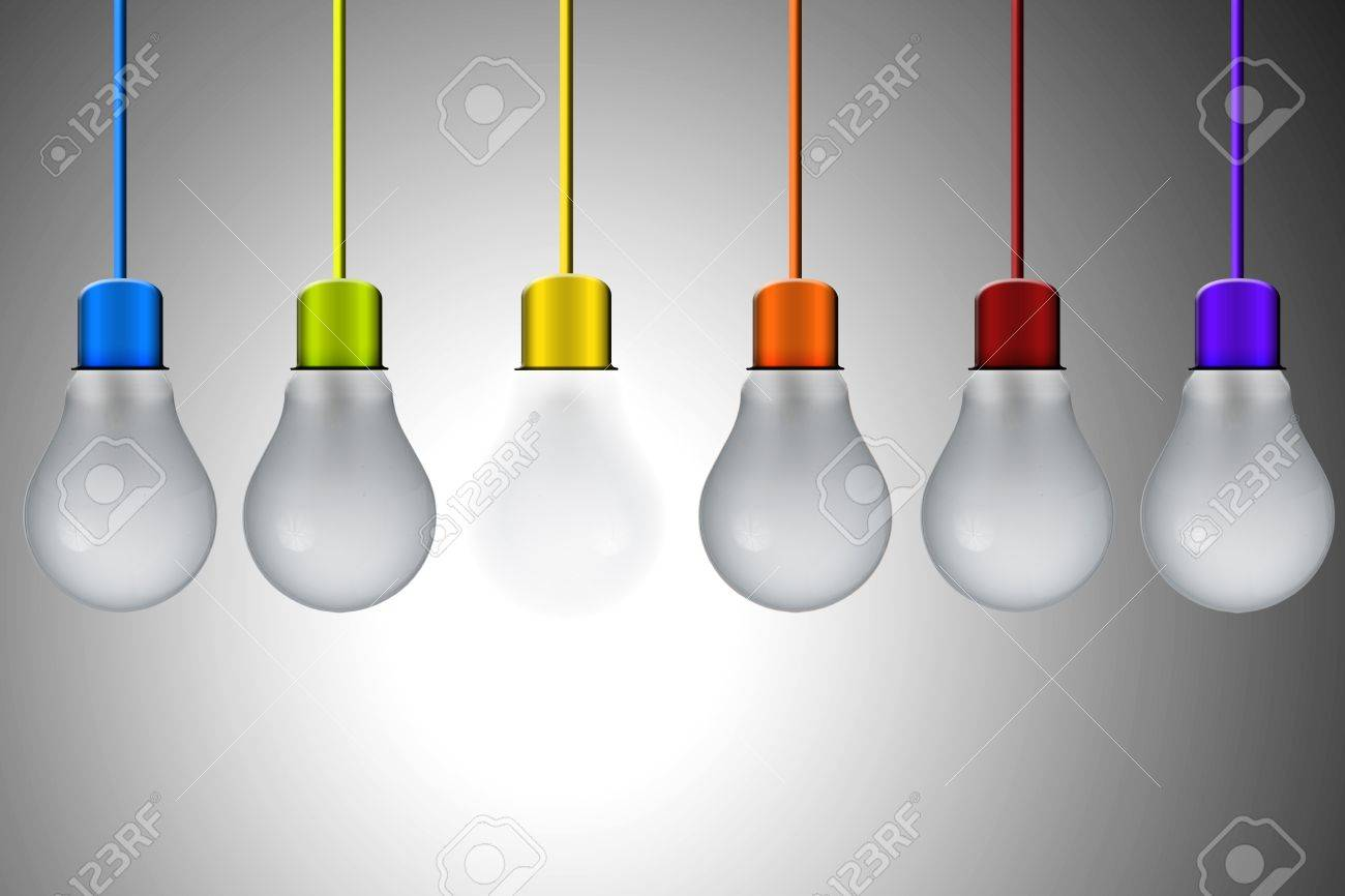 Light Bulb With Various Wire Colors Hanging From Roof Stock Photo Diagram 16770125