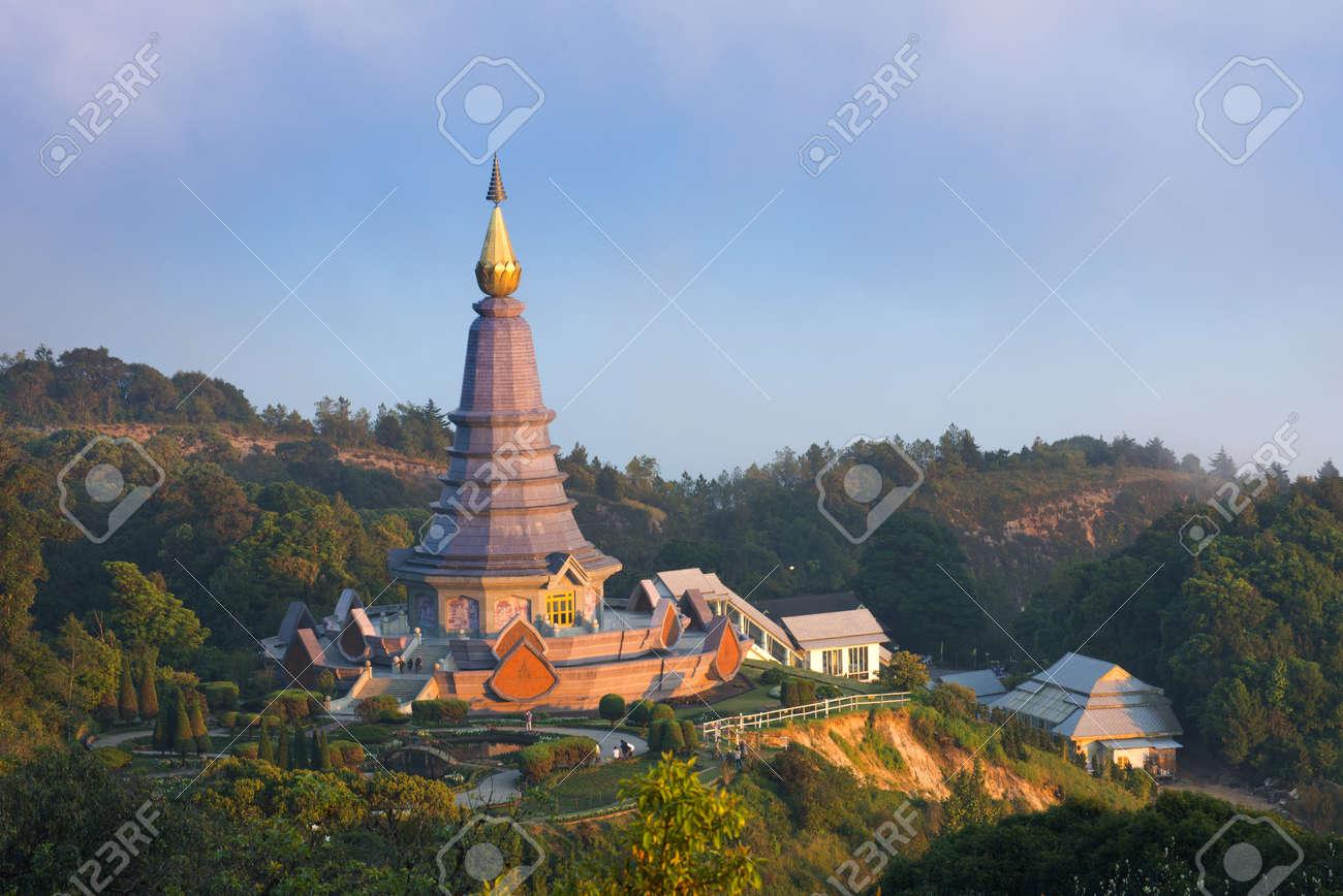 Thai Temple on North part of Thailand, Doi Inthanon Stock Photo - 17106710