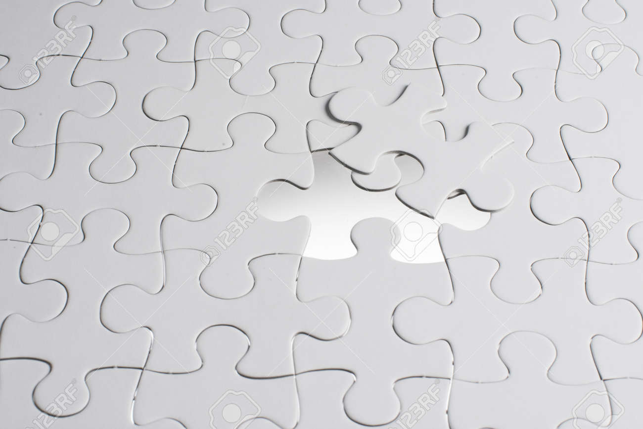 Missing Jigsaw Puzzle Piece With Light Glow, Business Concept ...