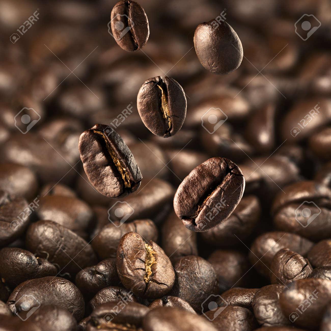 Coffee bean falling Stock Photo - 19805291