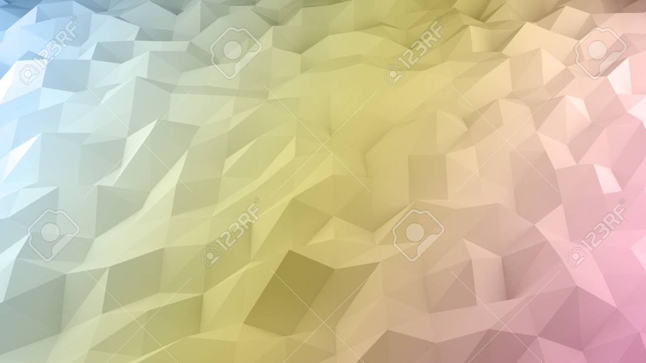 Abstract Background Of Polygons Pastel Multi Color Background ...