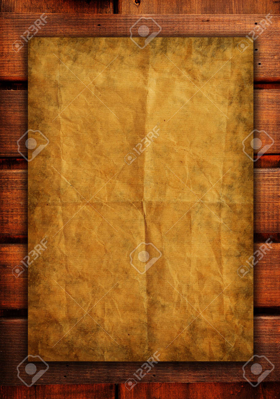 old papers on wood textures background Stock Photo - 16678007