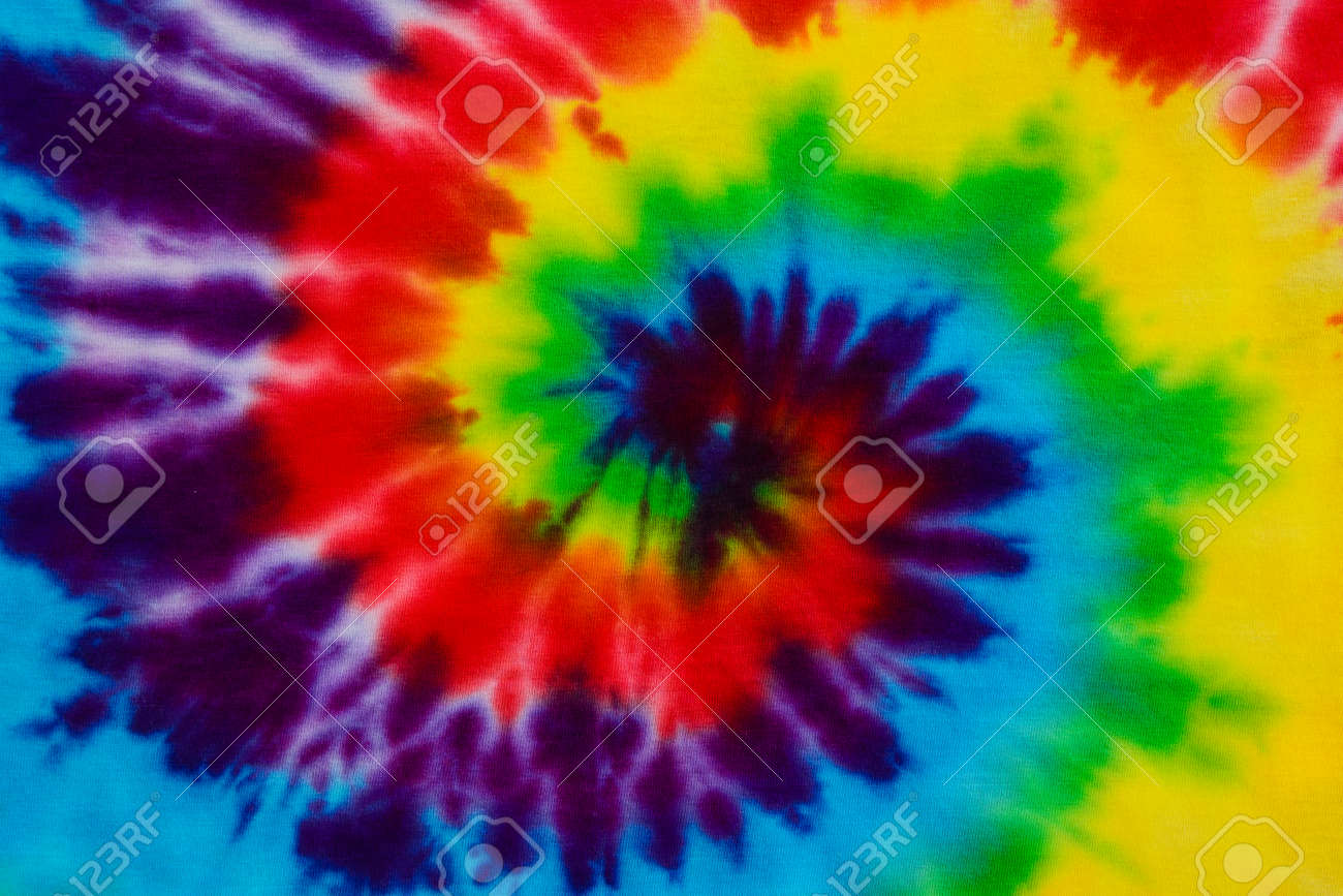 Tie Dye Fabric Background Stock Photo, Picture And Royalty Free ...