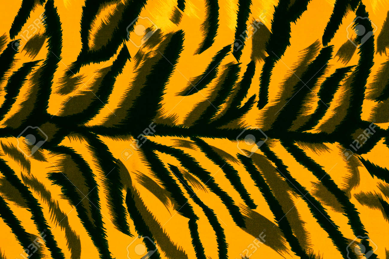 texture fabric of tiger for background stock photo, picture and